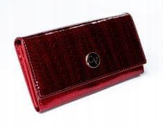 4U Cavaldi Moderní dámská lakovaná peněženka Cav, červená