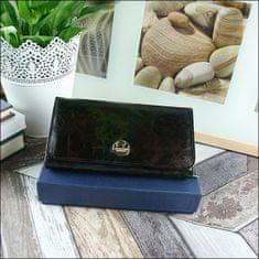 FOREVER YOUNG Praktická dámská kožená peněženka, černá