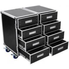 Roadinger DD-2, univerzální dvojitá skříň se zásuvkami a kolečky