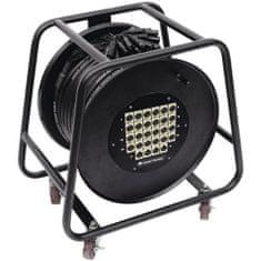 Omnitronic Multicore kabel 24 IN/4 OUT XLR, 30 m na kabelovém bubnu