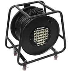 Omnitronic Multicore kabel 24 IN/8 OUT XLR, 30 m na kabelovém bubnu