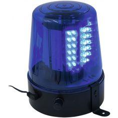 Eurolite LED policejní maják, 108 LED, modrý