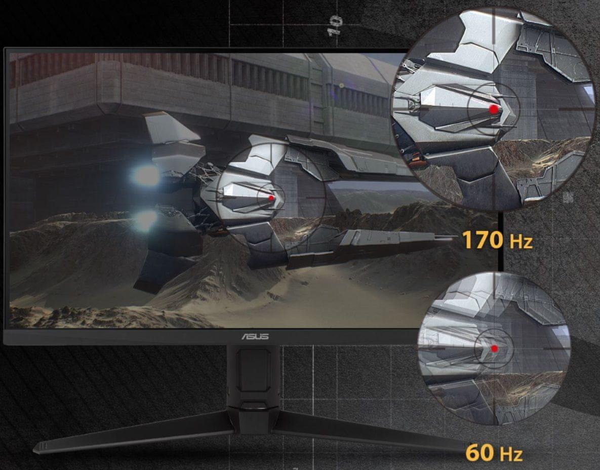 monitor gamingowy Asus TUF Gaming VG27AQL1A (90LM05Z0-B01370) full hd 165 hz bez zacięć