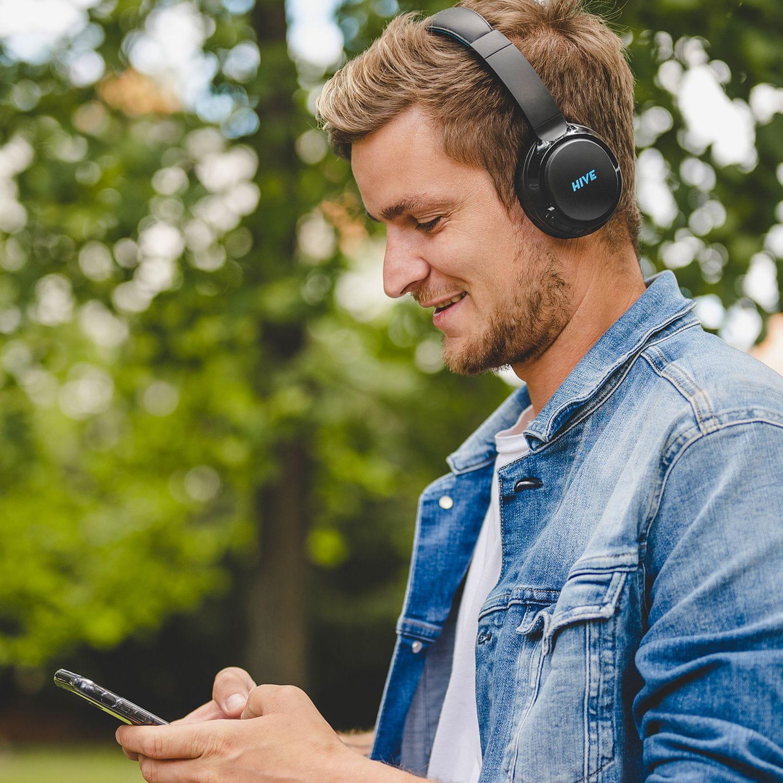 niceboy přenosná sluchátka hive 3 prodigy lehká pohodlná bezdrátová Bluetooth 5.0 sluchátka 32 h na nabití audio kabel libovolně drátová usb nabíjení skvělý zvuk ipx4 odolná hlasoví asistenti handsfree mikrofon maxxbass čistý zvuk