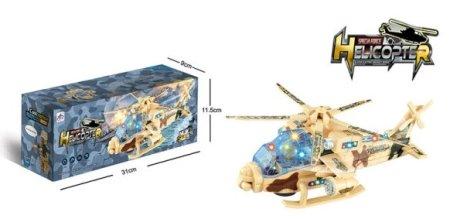 Selis vojaški helikopter z zvokom in lučjo, 24 cm