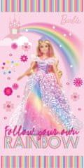 Carbotex Dětská osuška Barbie Duhová Princezna