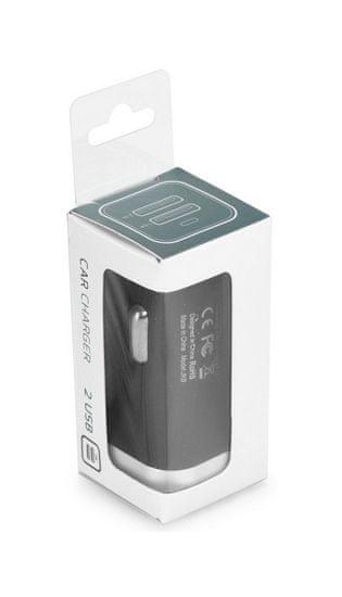 TopQ Autodobíječ USB Dual 3.1 A černý 28318