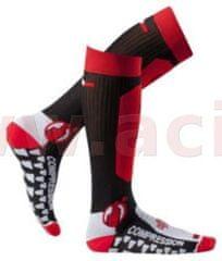 MOTO ONE Ponožky dlouhé Santa Barbara, MOTO ONE (černo-červené) (Velikost: 35/38) M168-04