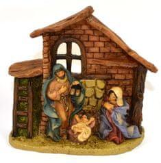 DUE ESSE dekoracja świąteczna - szopka, 13 cm