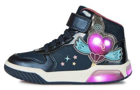 Geox Inek J04ASA 0AJ02 C4268 magasszárú lány sportcipő, 26, sötétkék