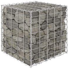 shumee Gabionový vyvýšený záhon krychle ocelový drát 50 x 50 x 50 cm