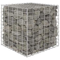 shumee Gabionový vyvýšený záhon krychle ocelový drát 60 x 60 x 60 cm