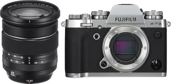 FujiFilm X-T3 + XF 16-80 Silver