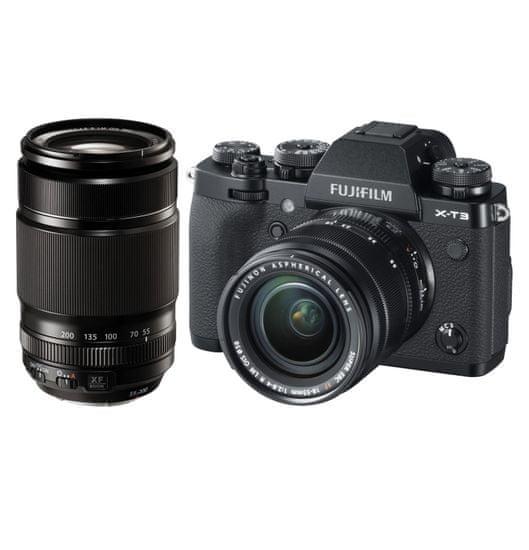 FujiFilm X-T3 + XF 18-55 + XF 55-200 Black