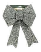 DUE ESSE dekoracja świąteczna, srebrna kokarda 35 cm