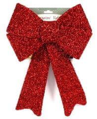 DUE ESSE dekoracja świąteczna, czerwona kokarda 35 cm