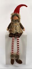 DUE ESSE ozdoba elf świąteczny - chłopiec, 65 cm, tkanina, siedzący
