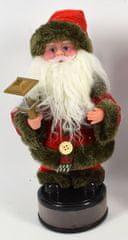 DUE ESSE Santa svítí, tančí, hraje, výška 40 cm, typ č. 1