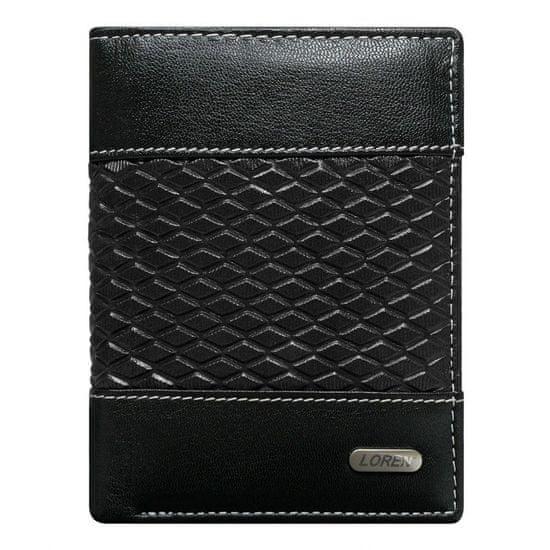 LOREN Moderní kožená peněženka Billie Black, černá