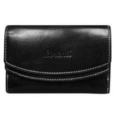 Lorenti Dámská hravá kožená peněženka Ela černá