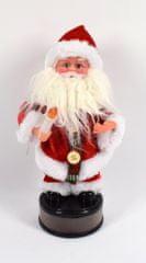 DUE ESSE Santa svítí, tančí, hraje, výška 40 cm, typ č. 2