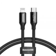 BASEUS Yiven USB-C do Lightning kabela, crna