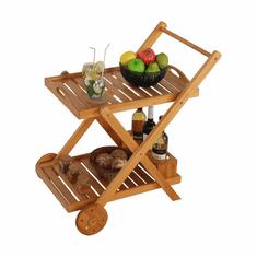 TEMPO KONDELA Servírovací vozík, prírodná, PIRAT