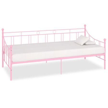 shumee Rama leżanki, różowa, metalowa, 90 x 200 cm