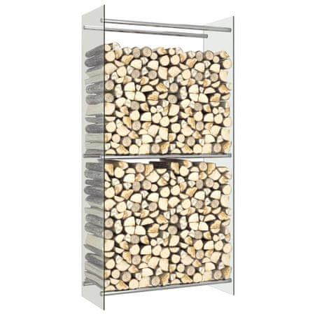 shumee Stojak na drewno opałowe, przezroczysty, 80x35x160 cm, szklany