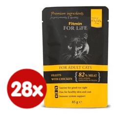 Fitmin mačja hrana u vrećici Cat pouch adult chicken, 28x85 g