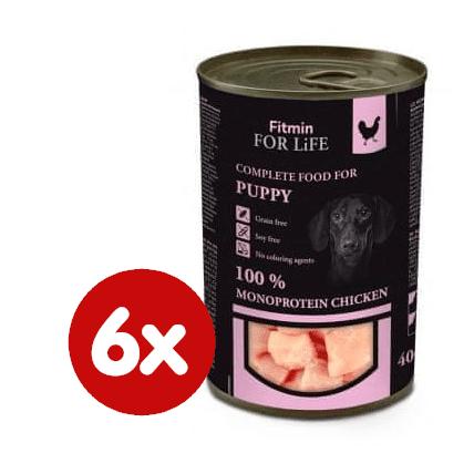 Fitmin hrana za pse Dog tin puppy chicken, 6x400 g