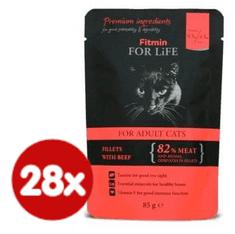 Fitmin mačja hrana u vrećici Cat pouch adult beef, 28x85 g