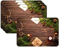 RoomDecor.eu Vianočné prestieranie-031, 4 Ks