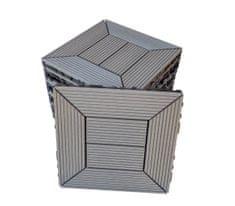 NEXTWOOD WPC dlaždice 30x30 cm, barva šedá, 1 m2 (11 ks)