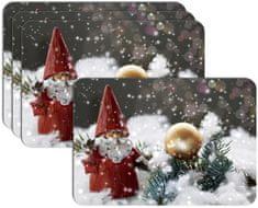 RoomDecor.eu Vianočné prestieranie-043, 4 Ks