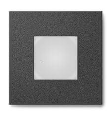 Mivvy Mivvy LED vstavané nástenné svietidlo SOLO BLACK A 80x80x26mm 1-3W / 3000K SOLA3W3KB