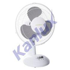 Kanlux Kanlux Stolový ventilátor VENETO-23GR, 30 cm, šedý 5905339238108