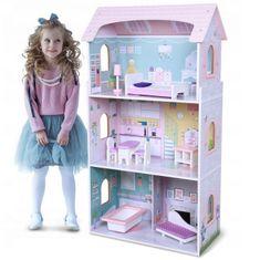 Derrson Dřevěný třípatrový domeček pro panenky