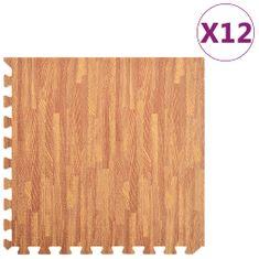 Podložka puzzle štruktúra dreva 12 ks 4,32㎡ EVA pena