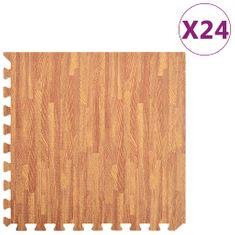 Podložka puzzle štruktúra dreva 24 ks 8,64㎡ EVA pena