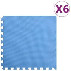 Podložky puzzle 6 ks 2,16㎡ EVA pena modré