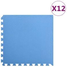 Podložky puzzle 12 ks 4,32㎡ EVA pena modré