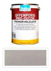 Herbol HERBOL Offenporig Pro Decor - univerzální lazura na dřevo 5 l Světle šedá