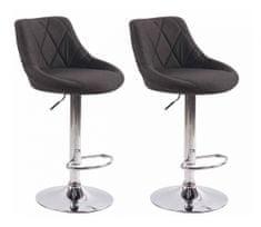 BHM Germany Barová židle Lazo (SET 2 ks), tmavě šedá