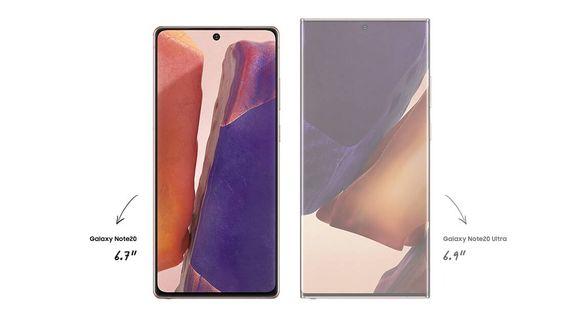 Samsung Galaxy Note20, bezrámečkový velký displej