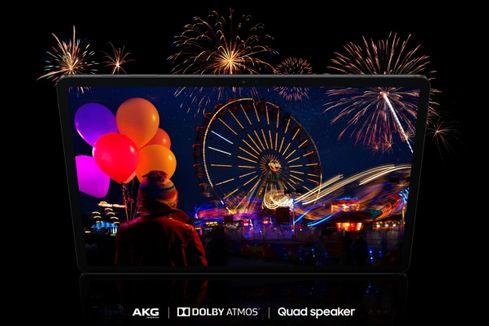 Samsung Galaxy Tab S7+, Dolby Atmos, věrné barvy, 4 reproduktory AKG, 11 palců