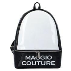 Maggio Městský dámský batoh Maggio Couture, černo bílý