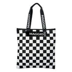 Maggio Extravagantní dámská koženková kabelka Maggio square, černá