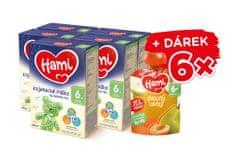 Hami 6+ pokračovacie dojčenské mlieko na dobrú noc 5 x 600 g