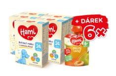 Hami 24+ batoľacie mlieko s vanilkovou príchuťou 5 x 600 g